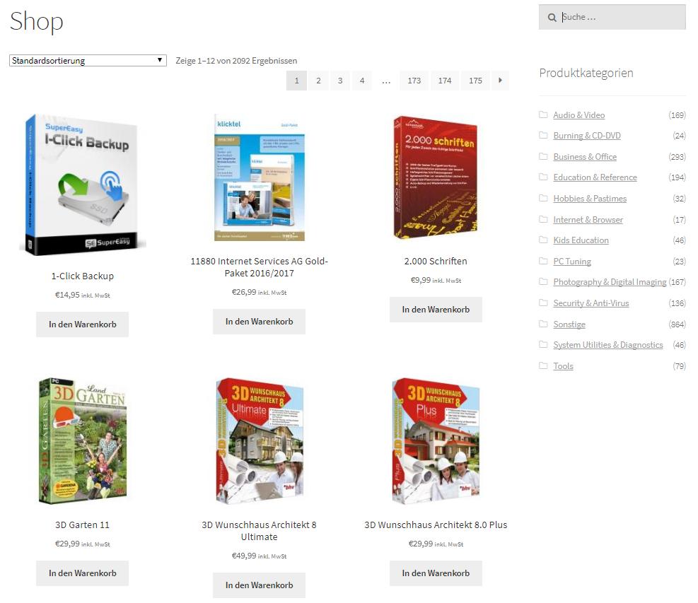 SECI.solutions Paket WooCommerce Shop mit Produktdaten und automatischem Drop-Shipment